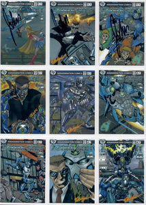 Zoom Suit - The Animated Movie - John Taddeo - Assassination Comics - Complete 9 Card SuperVerse Set - w/3 Autographed Cards
