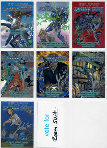 Zoom Suit - The Animated Movie - John Taddeo - Assassination Comics - Complete 6 Card Armored Legends Set - w/6 Autographed Cards & Promo Card