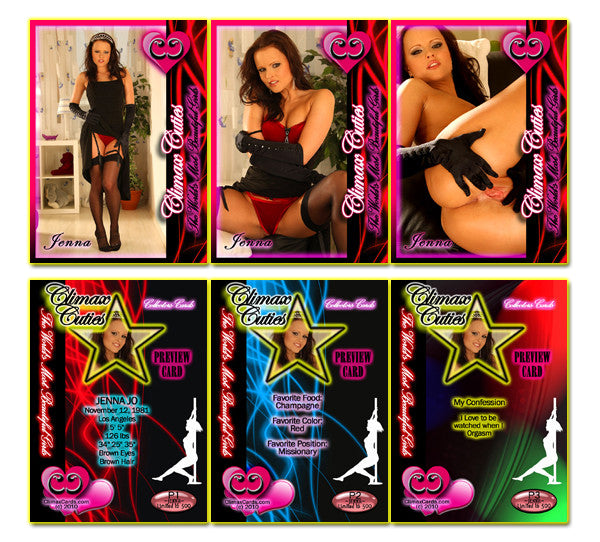 Climax Cards - Cuties 3 Card Preview Promo Set P1 - P3 - JENNA JO