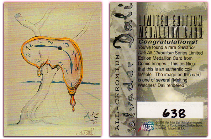 Salvador Dali - Limited Edition Medallion Card - Hand Numbered 638