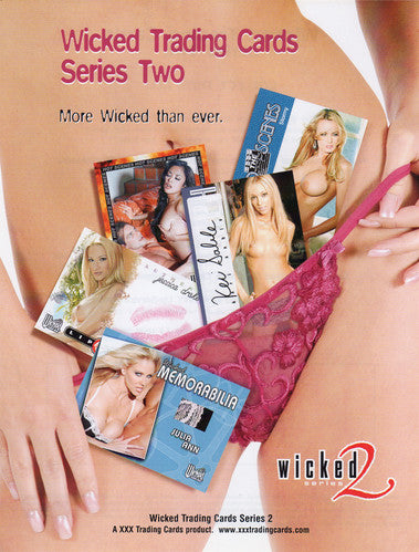 Sell Sheet - WICKED Trading Cards -  Series Two  - More Wicked Than Ever - Counter Slick