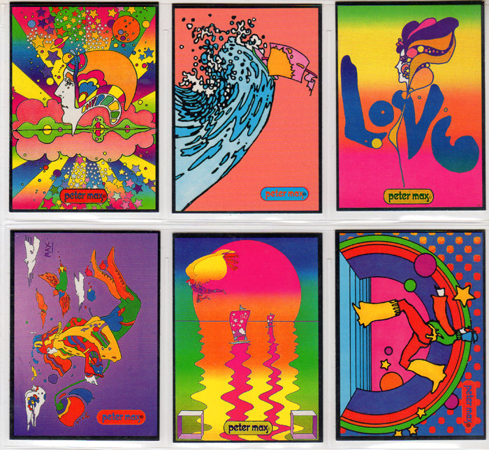 Peter Max - 6 Card Promo Set - Rare