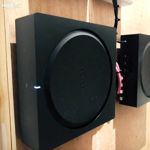 HIDEit Sonos Amp Wall Mounts with Devices