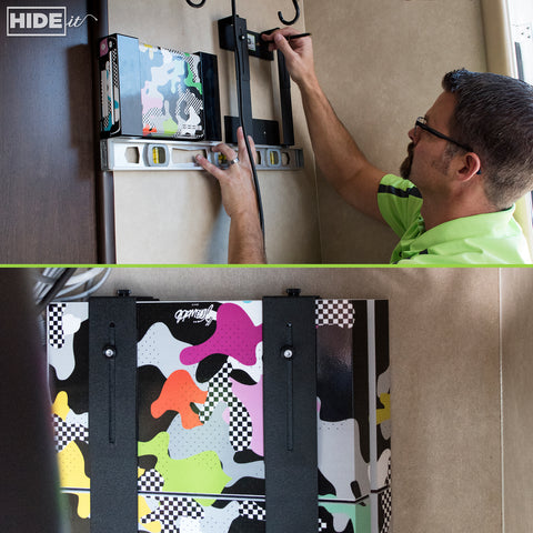 HIDEit Mounts gaming mounts make it easy to store gear in your RV