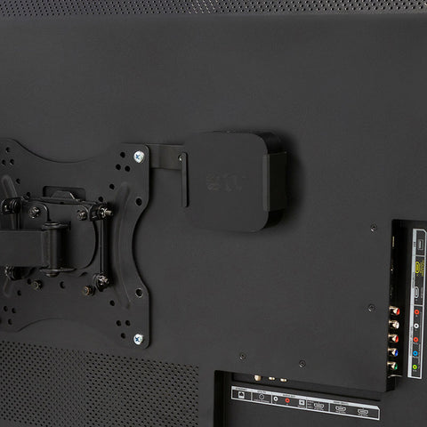 HIDEit ATV4K mount using Uni VESA Adapter Bracket with TV wall mount.