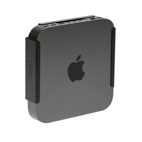 HIDEit MiniU Mount in Matte Black for the space gray Mac mini 2018