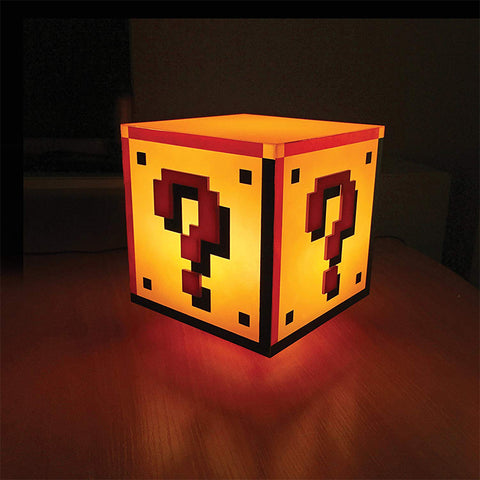 Paladone Mario Question Block Game Room Light