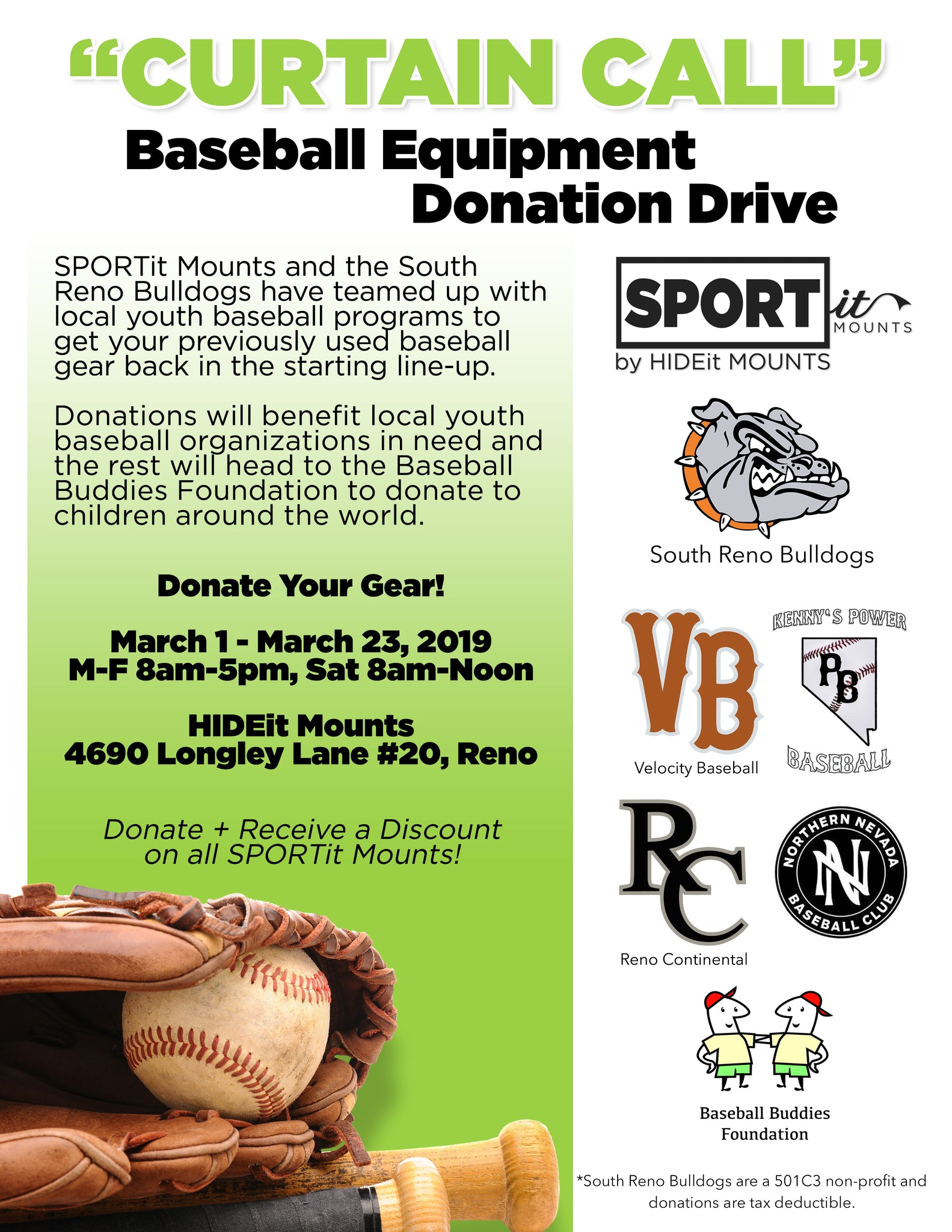 SPORTit Baseball Equipment Drive Supports Local Youth Baseball