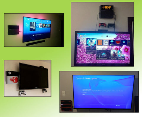 HIDEit Mounts PS4 Customer Image Collage