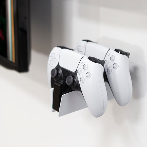 HIDEit Mounts PlayStation 5 DualSense Charging Station Mount with Dock and Two DualSense Controllers