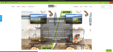 HIDEit Mounts front page of old website