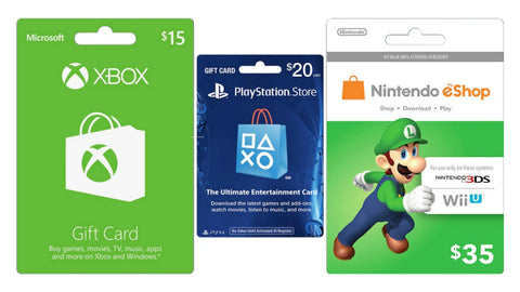 Direct Gaming Gift Cards for Xbox, Playstation and Nintendo
