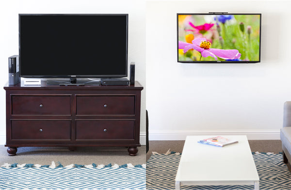 TV Setup Before & After HIDEit