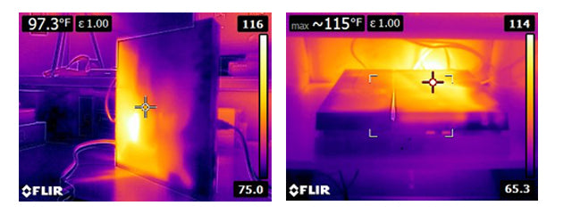 PS4 Thermal Image Vertical Vs Horizontal
