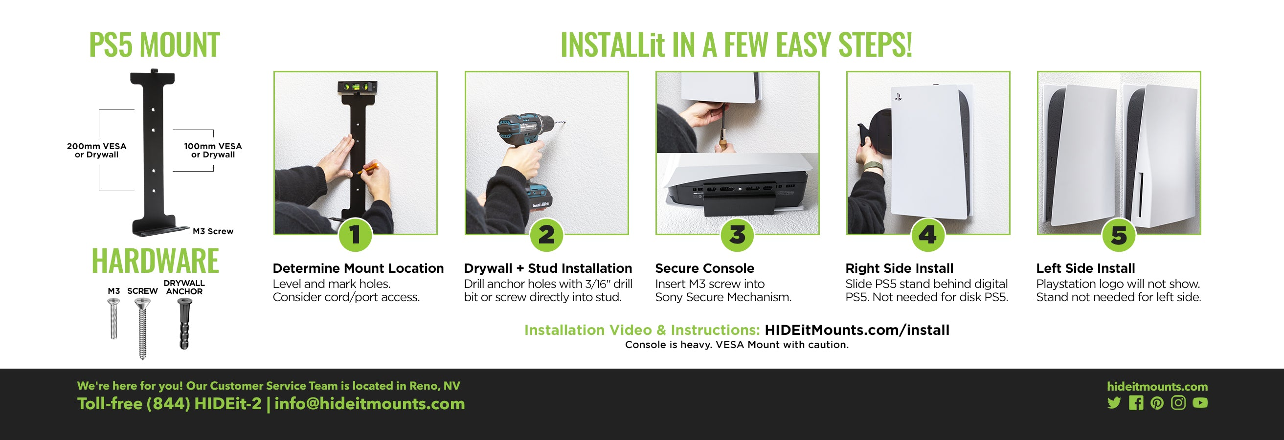 HIDEit PS5 Wall Mount Install Instructions