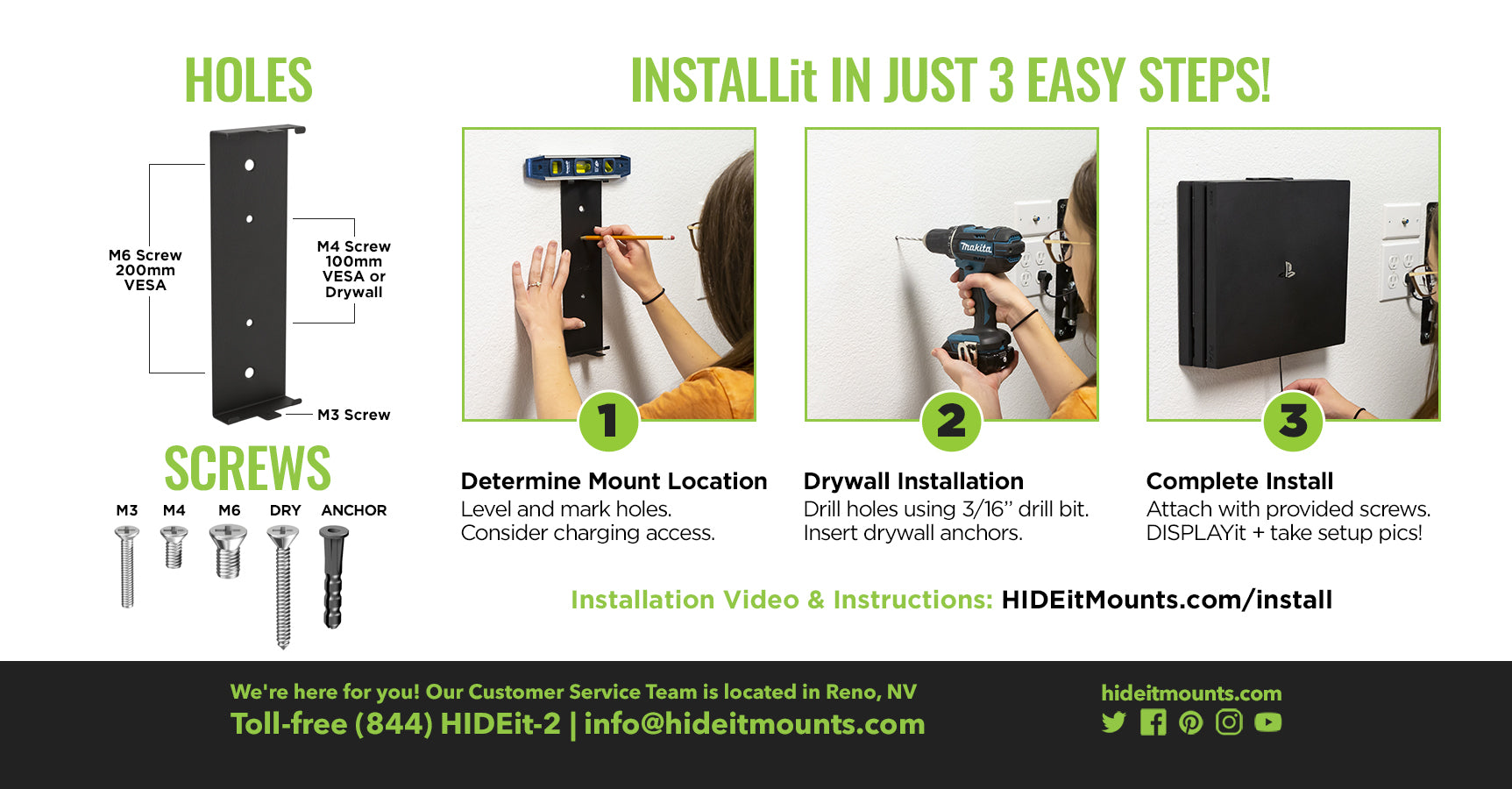HIDEit 4P + 4S Wall Mount Install Instructions