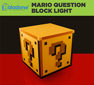 Paladone Super Mario Brothers Question Block Light