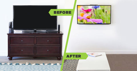 A Media Setup Using HIDEit Mounts Is Less Expensive, Significantly Easier  Than Assembling A Cabinet, Saves Space, And Gives You The Nice Clean Look  Your TV ...