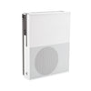 White Xbox One S in a white steel HIDEit Xbox One S Mount