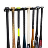 HIDEit Mounts vertical bat mount with eight baseball bats, softball bats, wooden baseball bats and youth baseball bats.