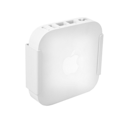 HIDEit Mounts steel Air-XS Mount securely holding Apple AirPort Express.