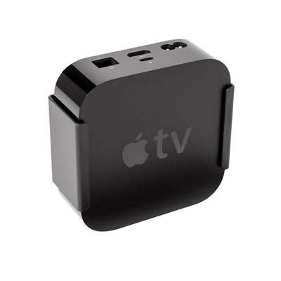 Black steel HIDEit Mount for Apple TV 4th Gen