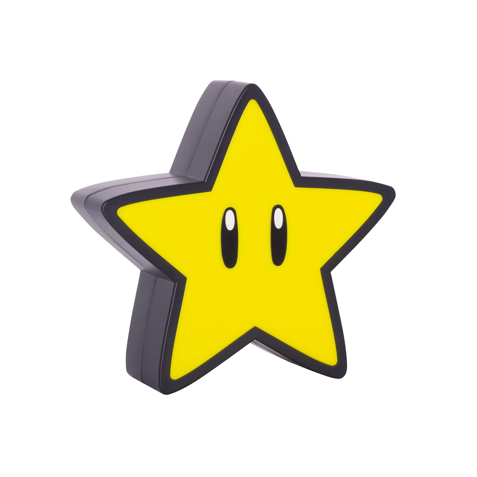 Super Mario Super Star Light made by Paladone, sold by HIDEit Mounts. Small yellow star light.