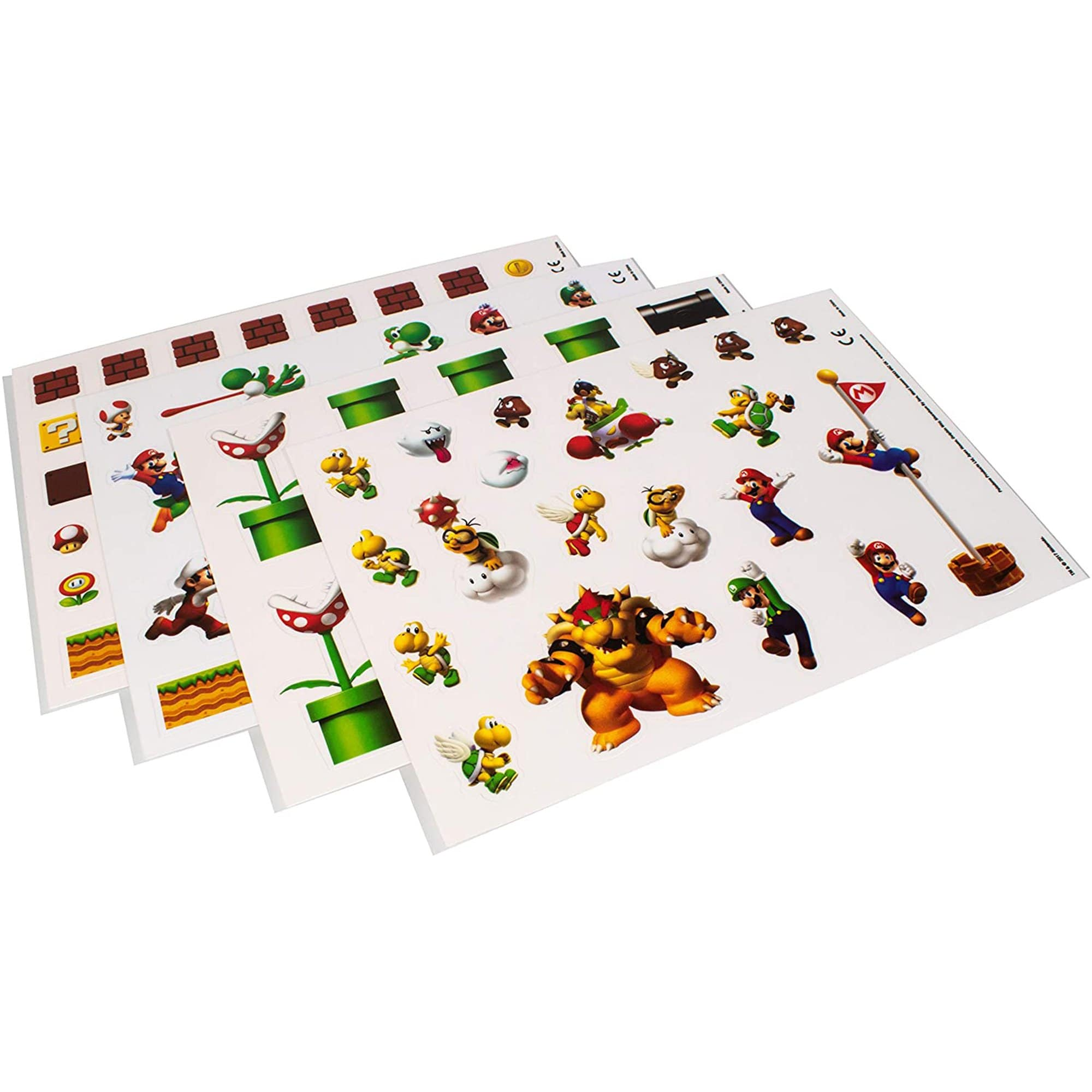 Super Mario Gadget Decals made by Paladone, sold by HIDEit Mounts.