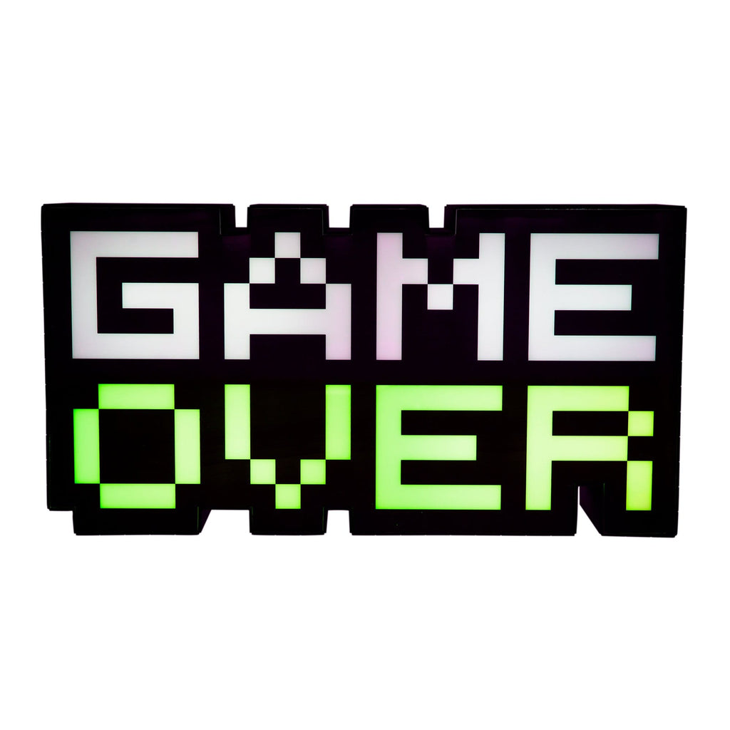 Retro 8 bit Game Over Light made by Paladone, sold by HIDEit Mounts.