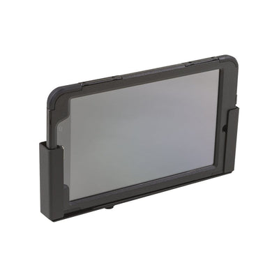 Tablet Wall Mount, made by HIDEit Mounts, with an iPad securely mounted in it