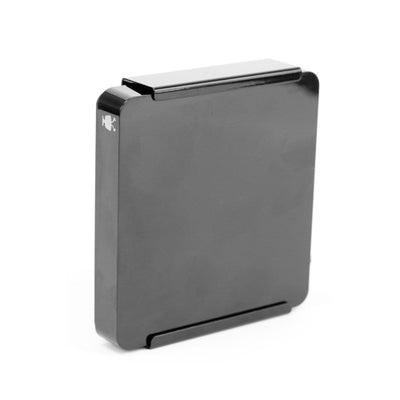 TiVo Mini VOX Streaming Media Player securely mounted in a steel HIDEit Mini VOX wall mount.