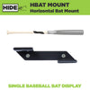 Close up view of the HIDEit Mounts Horizontal Baseball Bat Holder