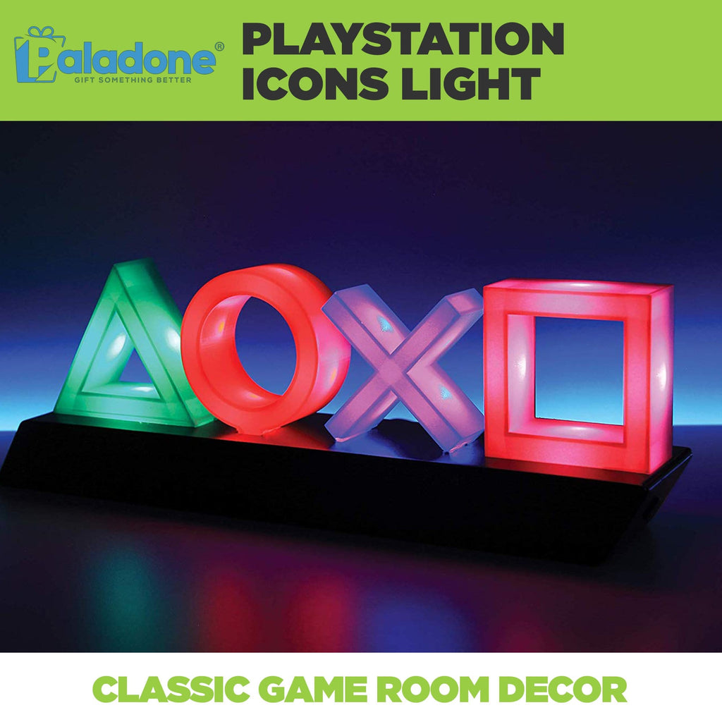 Paladone Playstation Icons light is the perfect game room decor! Features PS4 Icons.
