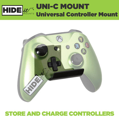 Xbox controller mounted in HIDEit Universal Controller Wall Mount.