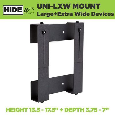 Adjustable steel wall mount for PC designed by HIDEit Mounts.