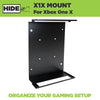 HIDEit mount for xbox one x made with countersunk holes for flush and easy installation.
