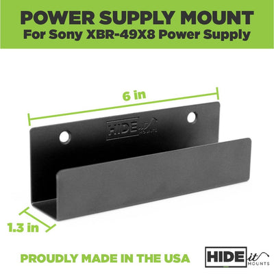 Empty power supply wall mount made by HIDEit Mounts to wall mount the Sony Power Brick.