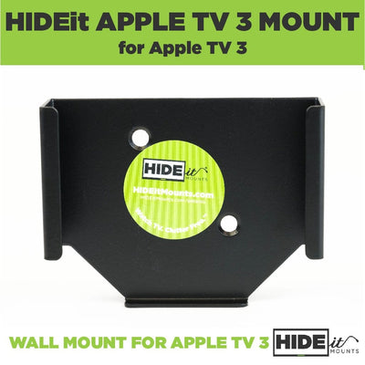 Steel wall mount for Apple TV 3rd Gen and Apple TV 2nd Gen made by HIDEit Mounts