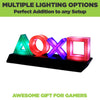 Playstation icon light with multiple lighting options. Awesome gift for gamers.