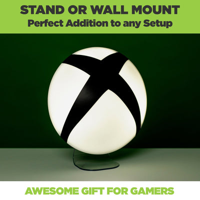 Official Xbox Logo lamp is an awesome gamer gift! Xbox light powered on in a dark room.