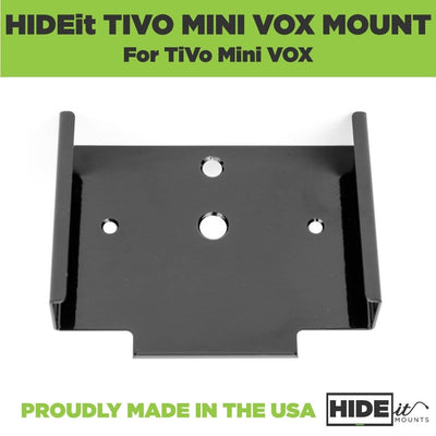 Steel wall mount for TiVo Mini VOX designed by HIDEit Mounts.