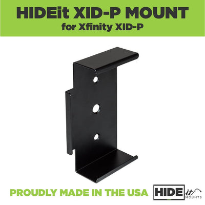 Steel wall mount, designed by HIDEit Mounts, for the Xfinity Pace pxd01ani.