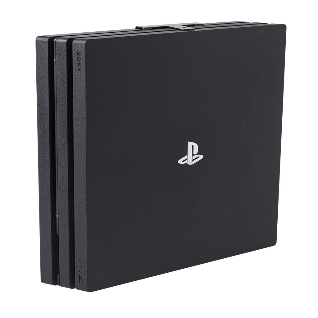Steel HIDEit PS4 Pro Wall Mount securely holding PlayStation 4 Pro.