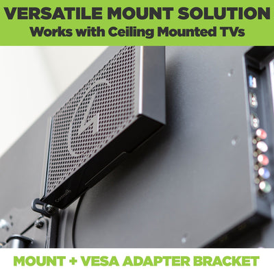 VESA mount the Control4 controller to the back of ceiling mounted TVs with the HIDEit EA-1 Mount and VESA Adapter bracket