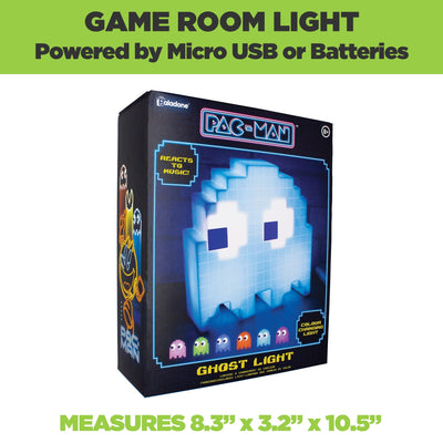 Pac-man ghost lamp comes in official Pac-man packaging. Micro USB or battery powered.