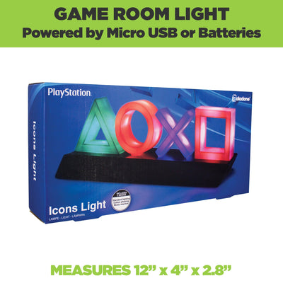 Official Playstation symbol light come in official Playstation packaging.