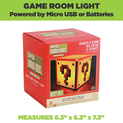Mario Question Block Light is the perfect game room decor. Comes in retro Nintendo packaging.