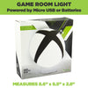 Xbox lamp come in official Xbox packaging. Micro USB or battery powered.