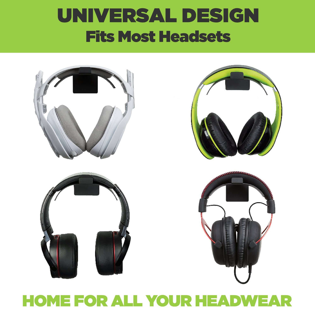 Universal headset wall mount fits most headset and headphone models.