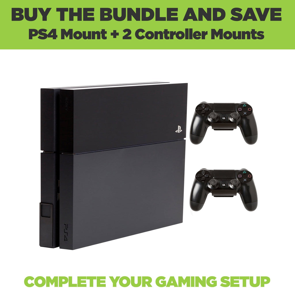 Bundle deal with two controller wall mounts and an original Playstation 4 console wall mount.